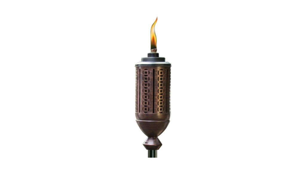 metal tiki torch